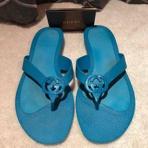 Gucci Rubber Flip Flops